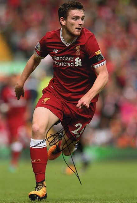 Andy Robertson, Liverpool & Scotland, signed 12x8 inch photo.